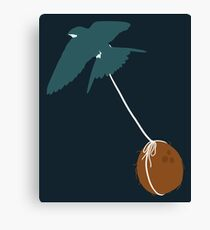 Swallow that coconut Canvas Print