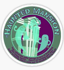 The Haunted Mansion (purple and green) Sticker