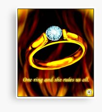 One Ring Canvas Print