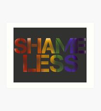 SHAME LESS (pride, stickers and cards) Art Print