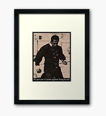 Kung Fu Joe Framed Print