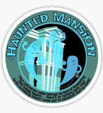 The Haunted Mansion (black and blue) Sticker