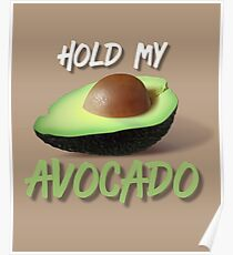 Hold My Avocado: Millennial Design  Poster