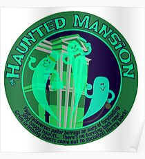 Haunted Mansion (spooky green) Poster