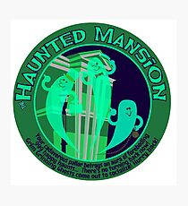 Haunted Mansion (spooky green) Photographic Print