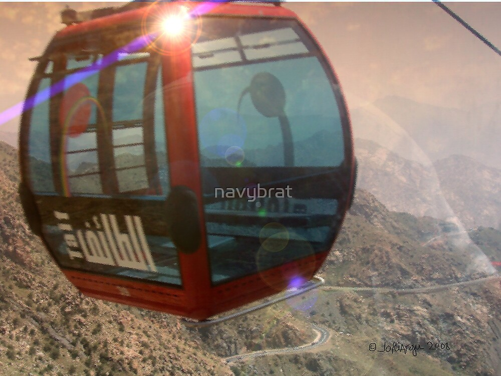 red cable car by navybrat