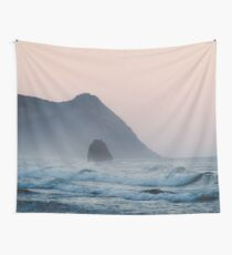 Pink Sky on the Pacific Coast Wall Tapestry