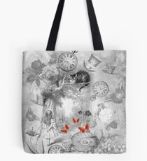Wonderland In Black & White Tote Bag
