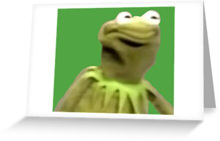 Kermit the frog the face greeting cards by erikdactyl redbubble kermit the frog the face by erikdactyl m4hsunfo