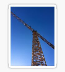 Construction Crane Blue Sky Sticker