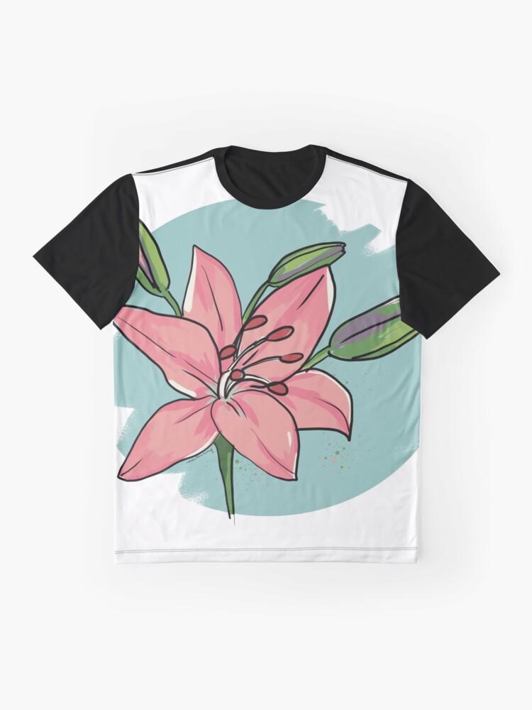 Alternative Ansicht von Lilie Grafik T-Shirt