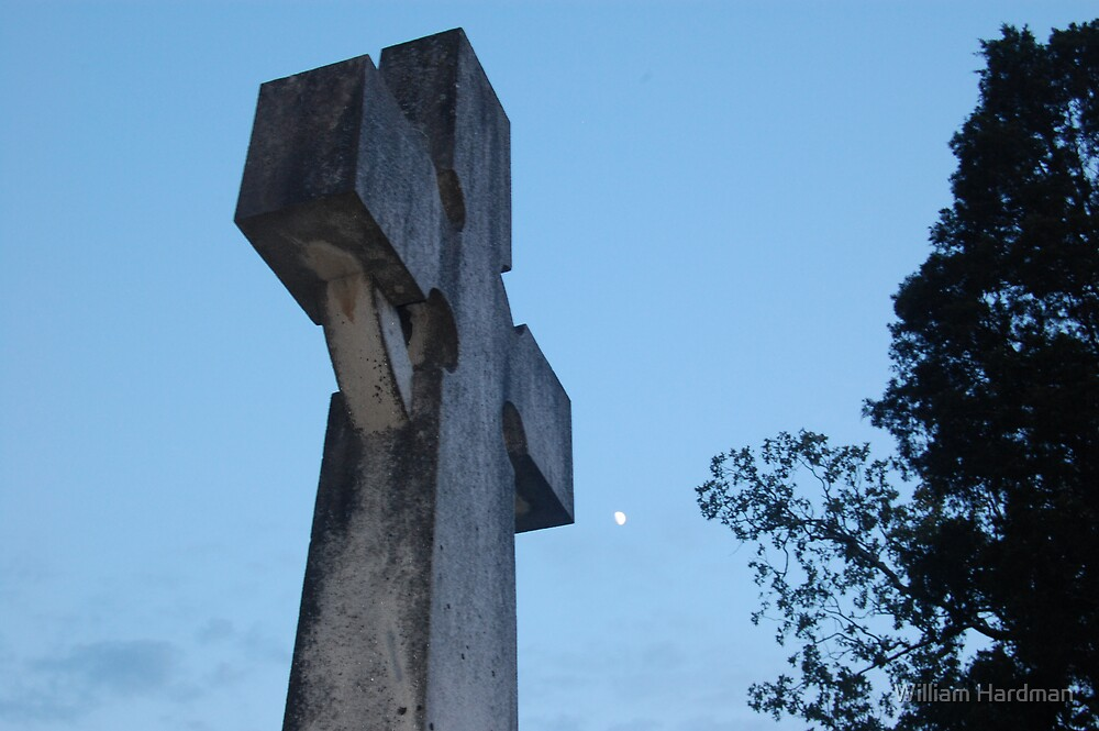 Cross and Moon by William Hardman