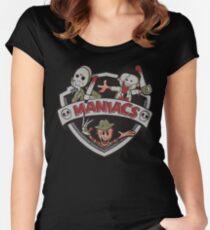 Die Maniacs Geschichten Tailliertes Rundhals-Shirt