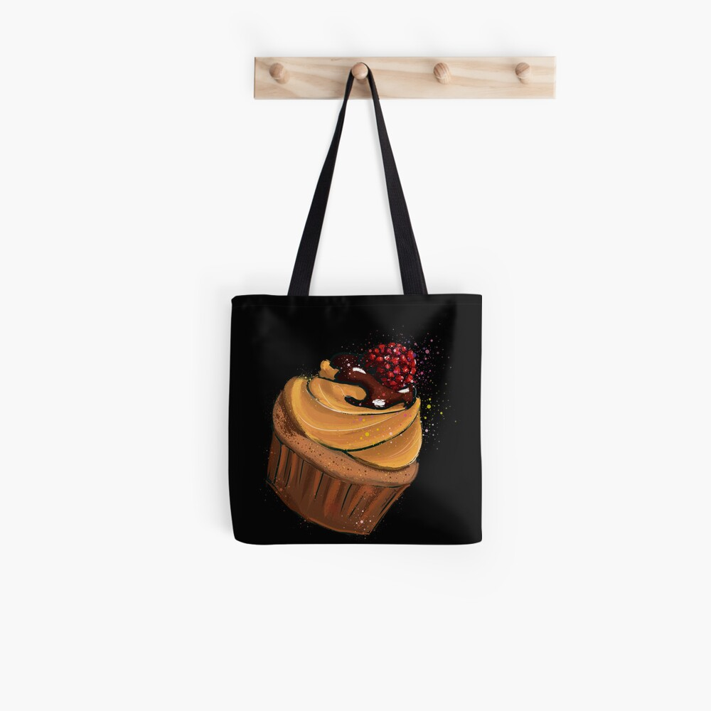 Muffin Himbeere Tote Bag