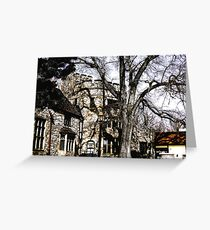 Come to my Castle with poem by Sally Omar Greeting Card
