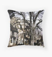 Come to my Castle with poem by Sally Omar Throw Pillow