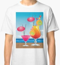 Cocktail on the beach 3 Classic T-Shirt