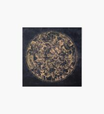 Vintage Constellations and Astrological Signs   Yellowed Ink and Cosmic Colour Art Board