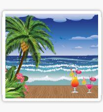 Cocktail on the beach 5 Sticker