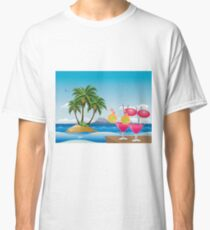 Cocktail on the beach 6 Classic T-Shirt