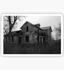 old creepy house Sticker
