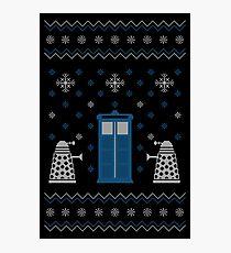 Christmas Doctor Who Photographic Print
