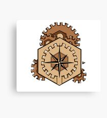 Compass of Cogs Canvas Print