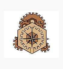 Compass of Cogs Photographic Print