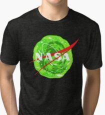 NASA - Rick and morty portal Tri-blend T-Shirt