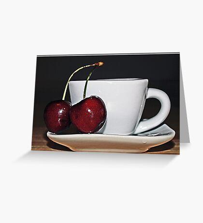 Cherry Tea Greeting Card
