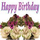 Floral Happy Birthday by KazM