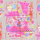 warm pink abstract on gray background by mariska eyck
