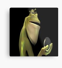 Frog Man With Egg Metal Print