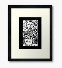 The Sun Tarot Card - Major Arcana - fortune telling - occult Framed Print