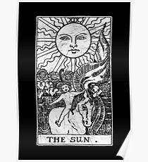 Die Sonnen Tarot Card - Major Arcana - Wahrsagerei - okkult Poster