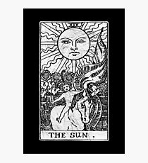 The Sun Tarot Card - Major Arcana - fortune telling - occult Photographic Print