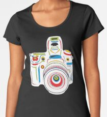 Rainbow Camera Fun Women's Premium T-Shirt