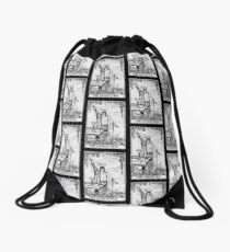 The Magician Tarot Card - Major Arcana - fortune telling - occult Drawstring Bag