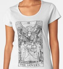 The Lovers Tarot Card - Major Arcana - fortune telling - occult Women's Premium T-Shirt