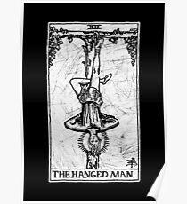 Die gehangene Mann Tarot-Karte - Major Arcana - Wahrsagerei - okkult Poster