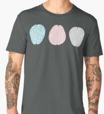 Brainy Pastel Pattern (Awesome Pastel Brains) Men's Premium T-Shirt