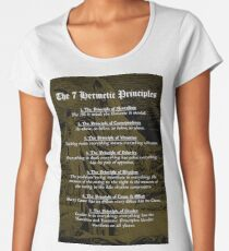 The 7 Hermetic Principles Women's Premium T-Shirt