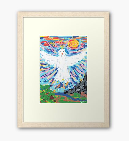 2310 - Dove of Peace Demonstrating Majesty Framed Print