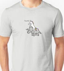 Onward! (Unicorn Riding Triceratops) T-Shirt