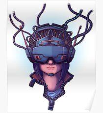 Cyber Punk Virtual Reality Poster