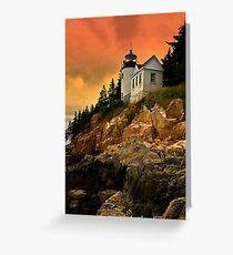 Bass Harbor Head Light- Acadia National Park, Maine Greeting Card