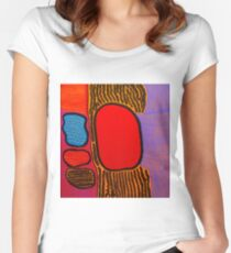 Yayoi Kusama - Life is The Heart of a Rainbow ,2017 Women's Fitted Scoop T-Shirt