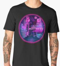 Neon Cyber punk city Men's Premium T-Shirt