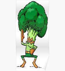 Foodietoon  /  Veggie Superheroes /  Broccoli Nija Poster