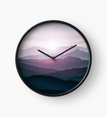 Mountain landscape Clock